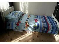 IKEA White Childens bed with mattress. Solid wood