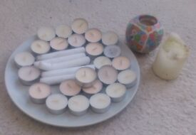 Selection of candles and tealights