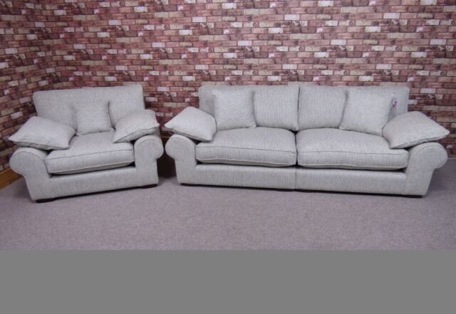 Stupendous Aria Extra Large 4 Seater Sofa Plus Maxi Snuggler Chair In Grey Fabric Settees In Chigwell Essex Gumtree Andrewgaddart Wooden Chair Designs For Living Room Andrewgaddartcom