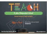 11 plus Independent School Intensive Tutoring