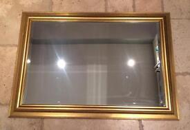 Gilt framed mirror , large