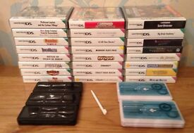 JOB LOT 24 Nintendo DS Games, 5 Travel Cases & 3 Styluses