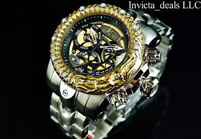 Invicta Men's 52mm VENOM SUBAQUA DRAGON SCALES Swiss Chrono Gold Dial SS Watch