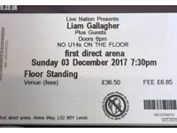 1 Liam Gallagher Standing Ticket - 3rd December Leeds First Direct Arena