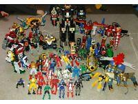 huge power rangers bundle, megazords, figures, morphers, vehicles