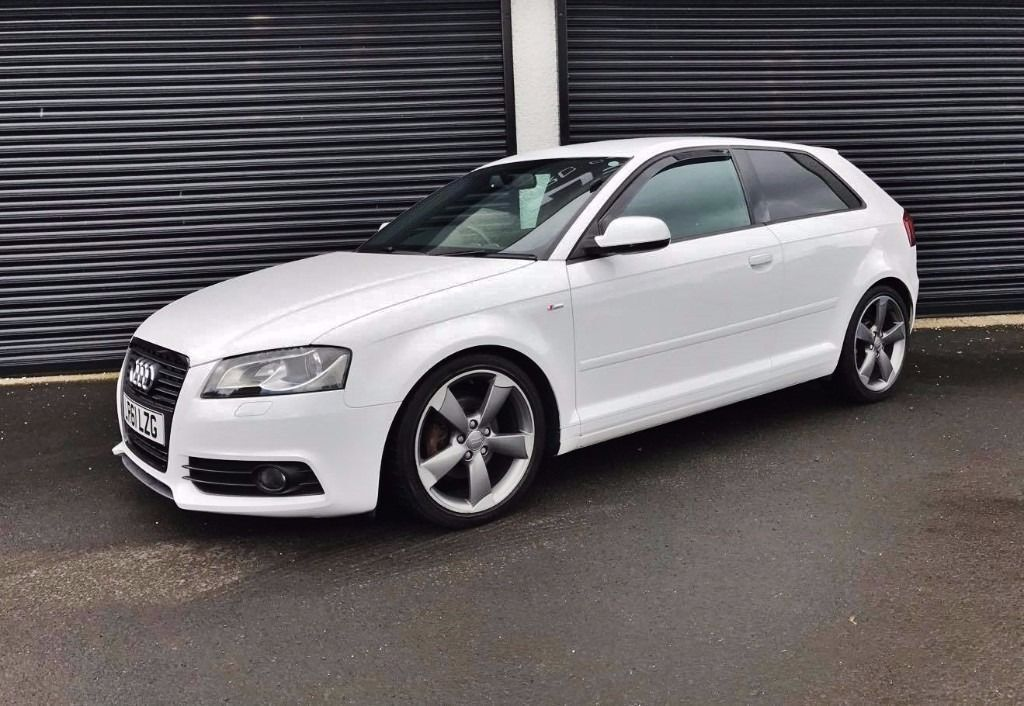 2011 audi a3 2 0 tdi 138 s line black edition 3 door white finance available in cullybackey. Black Bedroom Furniture Sets. Home Design Ideas