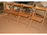 4 wooden garden chairs New , if you see this ad it's still for sale