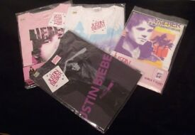 Justin Bieber T- Shirts (New in Bags with Tags)