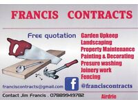 Francis contracts , ( decking , fencing , handyman , garden upkeep , painting & decorating and more