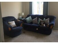 3 seat sofa and armchair, very good condition