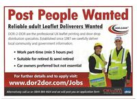 POST PEOPLE WANTED - GET PAID TO KEEP FIT - LEAFLET DISTRIBUTION
