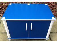 Blue 2 Door Cabinet