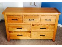 Chest of drawers - solid wood 7 drawer chest