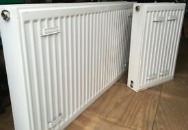 1 Large Double Radiator & 1 Small Double Radiator with fixings