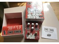 BBE Two Timer analogue delay effects pedal (like a Boss DM2 or MXR Carbon Copy but with 2 memories)