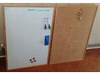 Cork Board and Magnetic White Board