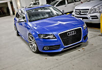 BRANDNEW Audi A4 S4 to RS4 style Front Bumper Grill for 2009+