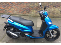 2016 Peugeot Tweet 125cc. Excellent condition, very low mileage, FSH, free Givi top box and cover