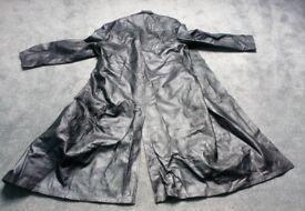 Full Length Genuine Leather Coat (Gothic Style)