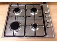 BELLING Silver STAINLESS STEEL GAS HOB (60cm) - 4 Burners + LOCAL DELIVERY AVAILABLE