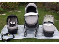 Graco Evo Avant Pram, Car Seat, Carry Cot Travel System