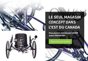 Jusqu'à 600$ de rabais = WOW!!! 2017 VÉLO ALLONGÉE DE CATRIKE (Salon du vélo de Montréal – 24 au 26 fév.)