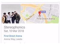 2 stereophonics tickets leeds arena 10th March