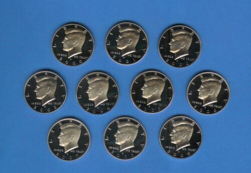 2000 through 2009 Clad Proof Kennedy Half Set of 10