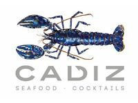Kitchen Porter required for Cadiz - seafood restaurant