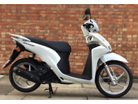 Honda Vision 110 (67 REG) in white, Showroom condition, One previous owner, O...