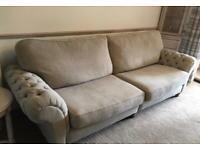 4 seater large sofa - light grey