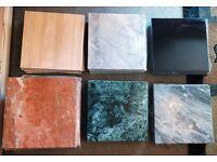 "Italian Marble - 12""x12"" Square tiles - 6 varieties"