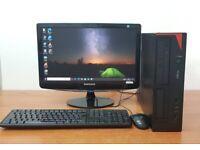Fujitsu PC Computer Windows 10, Intel i3-4130, 8GB RAM & 500GB HDD