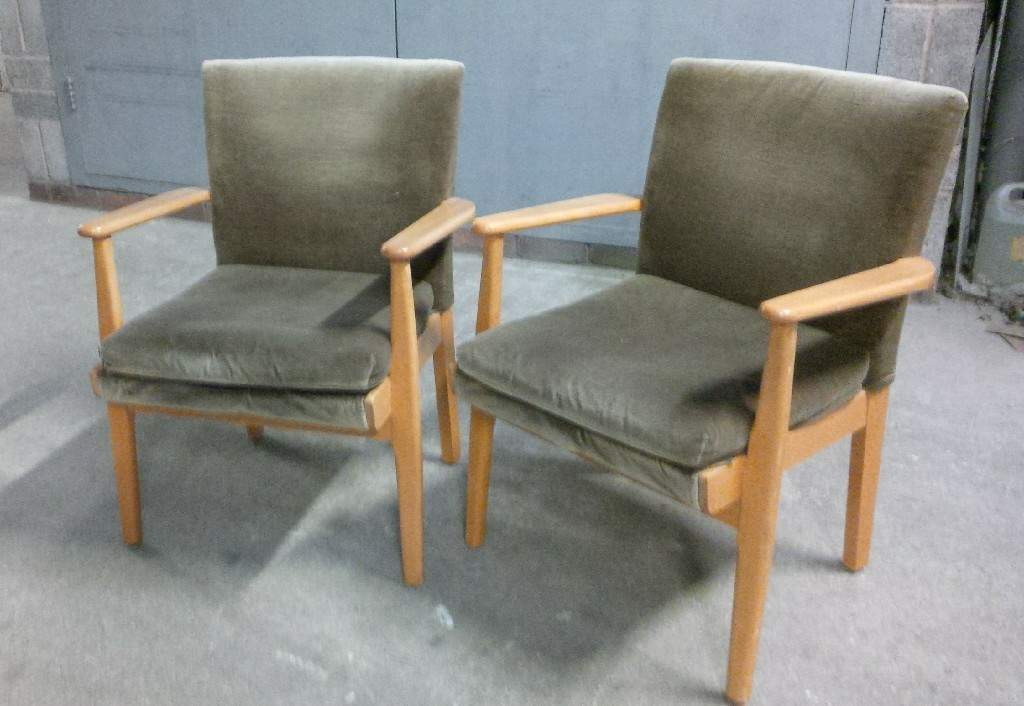 Pair Parker Knoll Fireside Occasional Chairs In
