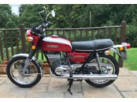 Suzuki GT250K 1972 K reg, with only 8931 miles, Candy Bright Red & White