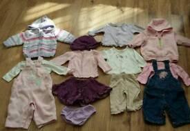 Baby girls clothing bundle age 0-3 mths