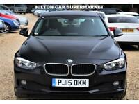 BMW 3 SERIES 2.0 320D EFFICIENTDYNAMICS 4d 161 BHP + Sat/Nav, Leather Interior, Blueto (black) 2015