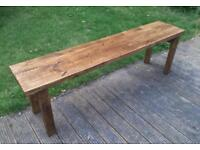 Bench solid wood 5ft dining garden new