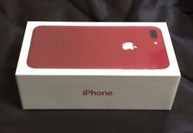 Apple iPhone 7 Plus 128gb RED ( UNLOCKED ) *Brand New Sealed*