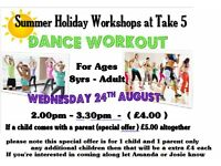 kids and parents dance workout workshop