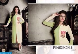 TITLI T-133 TO Y-140 LONG PRINTED TUNICS COLLECTION