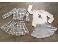 Girls Winter Zara Skirt & Top set Age 7-8