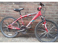 """24"""" BOYS NO FEAR RHINO BIKE with FRONT SUSPENSION - IN GOOD CONDITION - FULLY WORKING"""