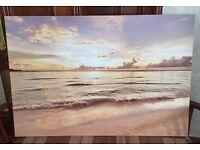 Sunny Beach Landscape Printed Canvas