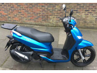 2016 Peugeot Tweet 125cc. Excellent condition, very low mileage, comes with top box and FSH