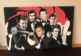"James Bond canvas print 32"" x 20"" in great condition"