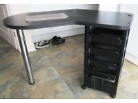 Manicure desk unit made by REM professional salon unit