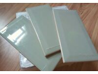75 Sage Green Ceramic Wall Tiles by Heritage - 3 X 25 Pack