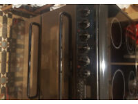 Creda hotpoint ceramic hob double electric oven with grill