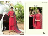 OMTEX BRINGS NEW CATALOG ALANNA LAWN COTTON PARTY WEAR SUITS AT HIRAL TEXTILE